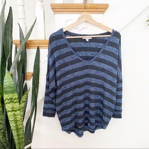 American Eagle Outfitters blue and navy sweater S